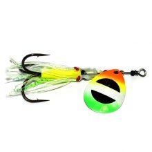 GDF Green Tip Rainbow Brass #4 Hex Colorado Hoochie Spinners