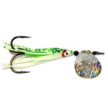 GDF Holo-Brushed #4 Hex Colorado Hoochie Spinners (brass)