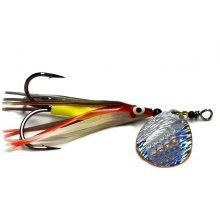GDF Holo-Brushed #4 Hex Colorado Hoochie Spinners (copper)