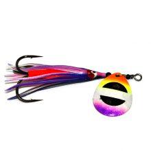GDF Purple Tip Rainbow Brass #4 Hex Colorado Hoochie Spinners